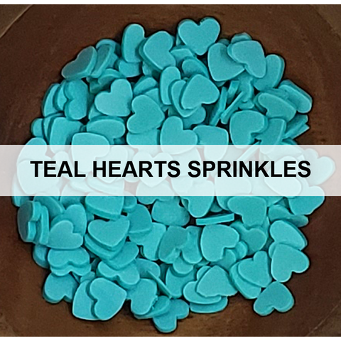 Teal Heart Sprinkles - Kat Scrappiness