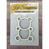 Teddy Bear Shaker Card Kit by Kat Scrappiness - 012 - Kat Scrappiness