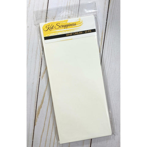#10 Slimline Envelope - Whip Cream 10 pack - Kat Scrappiness