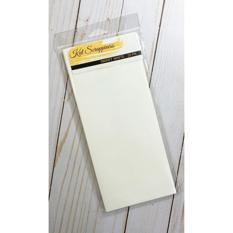 #10 Slimline Envelope - Smart White 10 pack - Kat Scrappiness