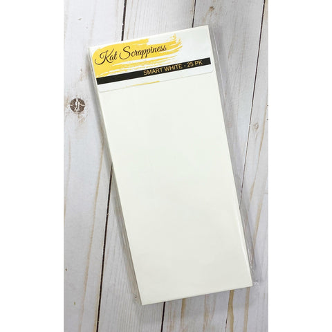 #10 Slimline Envelope - Smart White 25 pack - Kat Scrappiness