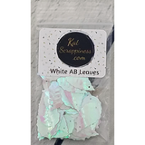 White AB Leaves Sequins by Kat Scrappiness - Kat Scrappiness