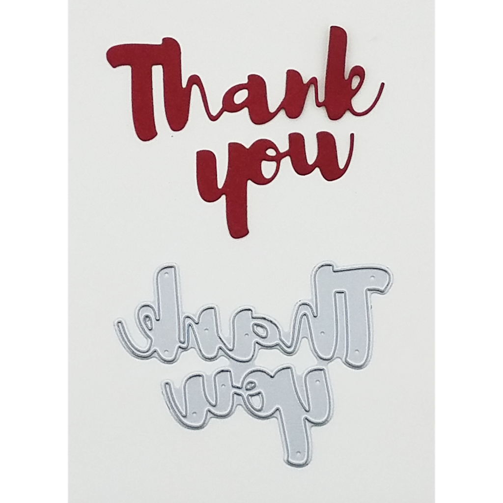 """Thank You"" Brush Script Word & Sentiment Die by Kat Scrappiness - Kat Scrappiness"