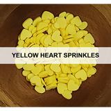 Yellow Heart Sprinkles - Kat Scrappiness