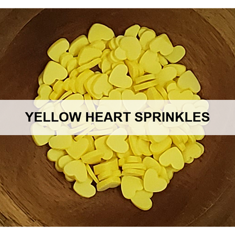 Yellow Heart Sprinkles