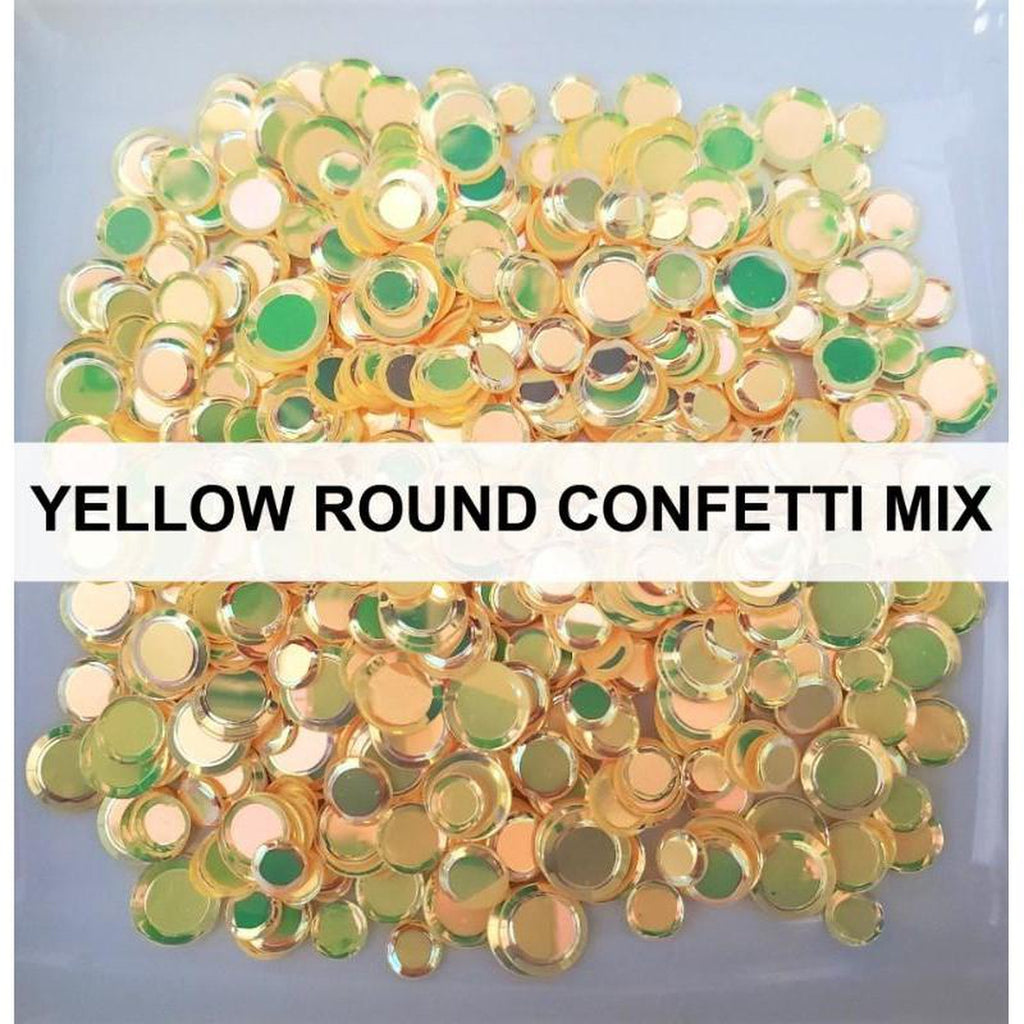 Yellow Solid Confetti Sequin Mix