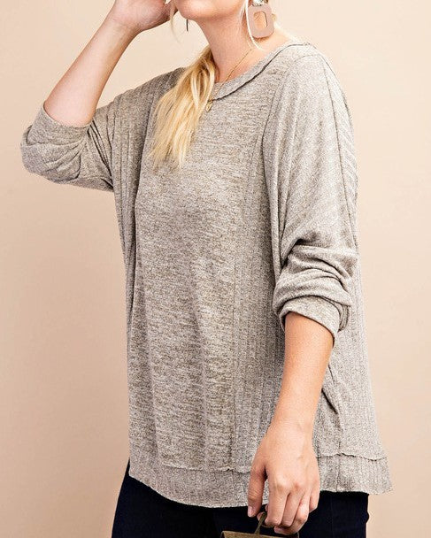 Rib Mixed Knit Top