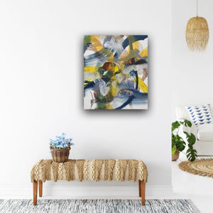 Abstract expressionist art in a young interior design style with a bit boho chic- modern artwork. A modern acrylic painting by abstract artist Anja Stemmer. Visit my Picture Shop for affordable art online: Buy abstract paintings, modern acrylic paintings and works of abstract art on canvas or paper online. My high quality abstract art designs are hand painted.