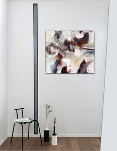 "Abstract expressionist art in a small appartement - modern artwork ""Loft III"". A modern acrylic painting by abstract artist Anja Stemmer. Visit my Picture Shop for affordable art online: Buy abstract paintings, modern acrylic paintings and works of abstract art on canvas or paper online. My high quality abstract art designs are hand painted."