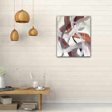 "Load image into Gallery viewer, Abstract expressionist art in a modern living room  - modern artwork ""Loft IV"". A modern acrylic painting by abstract artist Anja Stemmer. Visit my Picture Shop for affordable art online: Buy abstract paintings, modern acrylic paintings and works of abstract art on canvas or paper online. My high quality abstract art designs are hand painted."