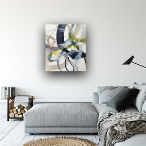 Abstract expressionist art in a modern home above lounge sofa- modern artwork. A modern acrylic painting by abstract artist Anja Stemmer. Visit my Picture Shop for affordable art online: Buy abstract paintings, modern acrylic paintings and works of abstract art on canvas or paper online. My high quality abstract art designs are hand painted.