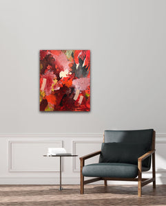 "Abstract expressionist art and modern contemporary furniture  - modern artwork  ""Red symphony"". A modern acrylic painting by abstract artist Anja Stemmer. Visit my Picture Shop for affordable art online: Buy abstract paintings, modern acrylic paintings and works of abstract art on canvas or paper online. My high quality abstract art designs are hand painted."