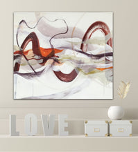 "Load image into Gallery viewer, Love Abstract expressionist art - modern artwork ""Loft I"". A modern acrylic painting by abstract artist Anja Stemmer. Visit my Picture Shop for affordable art online: Buy abstract paintings, modern acrylic paintings and works of abstract art on canvas or paper online. My high quality abstract art designs are hand painted."