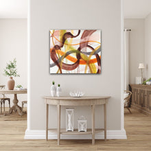 "Load image into Gallery viewer, Abstract expressionist art in modern living room - modern artwork ""Loft VIII"". A modern acrylic painting by abstract artist Anja Stemmer. Visit my Picture Shop for affordable art online: Buy abstract paintings, modern acrylic paintings and works of abstract art on canvas or paper online. My high quality abstract art designs are hand painted."