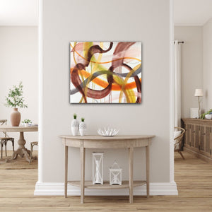 "Abstract expressionist art in modern living room - modern artwork ""Loft VIII"". A modern acrylic painting by abstract artist Anja Stemmer. Visit my Picture Shop for affordable art online: Buy abstract paintings, modern acrylic paintings and works of abstract art on canvas or paper online. My high quality abstract art designs are hand painted."