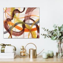 "Load image into Gallery viewer, Abstract expressionist art with bathroom accessories - modern artwork ""Loft VIII"". A modern acrylic painting by abstract artist Anja Stemmer. Visit my Picture Shop for affordable art online: Buy abstract paintings, modern acrylic paintings and works of abstract art on canvas or paper online. My high quality abstract art designs are hand painted."