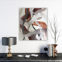 "Load image into Gallery viewer, Abstract expressionist art and home decor accessories - modern artwork ""Loft VII"". A modern acrylic painting by abstract artist Anja Stemmer. Visit my Picture Shop for affordable art online: Buy abstract paintings, modern acrylic paintings and works of abstract art on canvas or paper online. My high quality abstract art designs are hand painted."