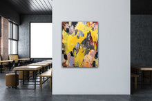 "Load image into Gallery viewer, Abstract expressionist art in a cantine - modern artwork ""Flashlight"". A modern acrylic painting by abstract artist Anja Stemmer. Visit my Picture Shop for affordable art online: Buy abstract paintings, modern acrylic paintings and works of abstract art on canvas or paper online. My high quality abstract art designs are hand painted."