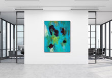 "Load image into Gallery viewer, Abstract expressionist art in the hall of a design office- modern artwork  ""Nautilus"". A modern acrylic painting by abstract artist Anja Stemmer. Visit my Picture Shop for affordable art online: Buy abstract paintings, modern acrylic paintings and works of abstract art on canvas or paper online. My high quality abstract art designs are hand painted."