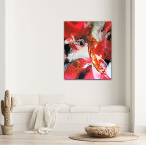 "XXL Abstract expressionist art  in a modern living room - modern artwork ""El Toro"". A modern acrylic painting by abstract artist Anja Stemmer. Visit my Picture Shop for affordable art online: Buy abstract paintings, modern acrylic paintings and works of abstract art on canvas or paper online. My high quality abstract art designs are hand painted."