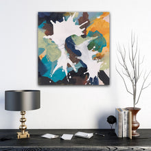"Load image into Gallery viewer, Abstract expressionist art in modern home decor- modern artwork ""In Twos"". A modern acrylic painting by abstract artist Anja Stemmer. Visit my Picture Shop for affordable art online: Buy abstract paintings, modern acrylic paintings and works of abstract art on canvas or paper online. My high quality abstract art designs are hand painted."