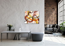 "Load image into Gallery viewer, Abstract expressionist art and Loft living - modern artwork ""Loft VIII"". A modern acrylic painting by abstract artist Anja Stemmer. Visit my Picture Shop for affordable art online: Buy abstract paintings, modern acrylic paintings and works of abstract art on canvas or paper online. My high quality abstract art designs are hand painted."