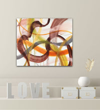 "Load image into Gallery viewer, Love Abstract expressionist art - modern artwork ""Loft VIII"". A modern acrylic painting by abstract artist Anja Stemmer. Visit my Picture Shop for affordable art online: Buy abstract paintings, modern acrylic paintings and works of abstract art on canvas or paper online. My high quality abstract art designs are hand painted."