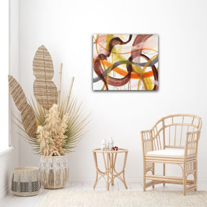 "Abstract expressionist art in relaxation room - modern artwork ""Loft VIII"". A modern acrylic painting by abstract artist Anja Stemmer. Visit my Picture Shop for affordable art online: Buy abstract paintings, modern acrylic paintings and works of abstract art on canvas or paper online. My high quality abstract art designs are hand painted."