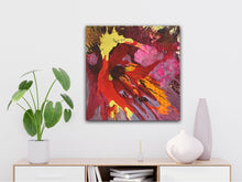 "Load image into Gallery viewer, Abstract expressionist art over a sideboard - modern artwork. ""Upsurge"" A modern acrylic painting by abstract artist Anja Stemmer. Visit my Picture Shop for affordable art online: Buy abstract paintings, modern acrylic paintings and works of abstract art on canvas or paper online. My high quality abstract art designs are hand painted."