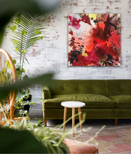 "Lade das Bild in den Galerie-Viewer, Abstract expressionist art in a BoHo style living room - modern artwork ""The heat is on II"". A modern acrylic painting by abstract artist Anja Stemmer. Visit my Picture Shop for affordable art online: Buy abstract paintings, modern acrylic paintings and works of abstract art on canvas or paper online. My high quality abstract art designs are hand painted."