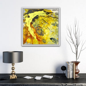 "Abstract expressionist art with home decor accessories - modern artwork ""Skyfall"". A modern acrylic painting by abstract artist Anja Stemmer. Visit my Picture Shop for affordable art online: Buy abstract paintings, modern acrylic paintings and works of abstract art on canvas or paper online. My high quality abstract art designs are hand painted."