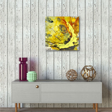 "Lade das Bild in den Galerie-Viewer, Abstract expressionist art with shabby chic walls and contemporary sideboard - modern artwork ""Skyfall"". A modern acrylic painting by abstract artist Anja Stemmer. Visit my Picture Shop for affordable art online: Buy abstract paintings, modern acrylic paintings and works of abstract art on canvas or paper online. My high quality abstract art designs are hand painted."