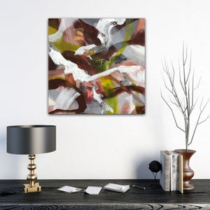 "Abstract expressionist art with modern interior design accessories- modern artwork ""Unseen Landscape I"". A modern acrylic painting by abstract artist Anja Stemmer. Visit my Picture Shop for affordable art online: Buy abstract paintings, modern acrylic paintings and works of abstract art on canvas or paper online. My high quality abstract art designs are hand painted."