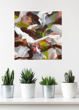 "Load image into Gallery viewer, Abstract expressionist art with succulent pot plants- modern artwork ""Unseen Landscape I"". A modern acrylic painting by abstract artist Anja Stemmer. Visit my Picture Shop for affordable art online: Buy abstract paintings, modern acrylic paintings and works of abstract art on canvas or paper online. My high quality abstract art designs are hand painted."