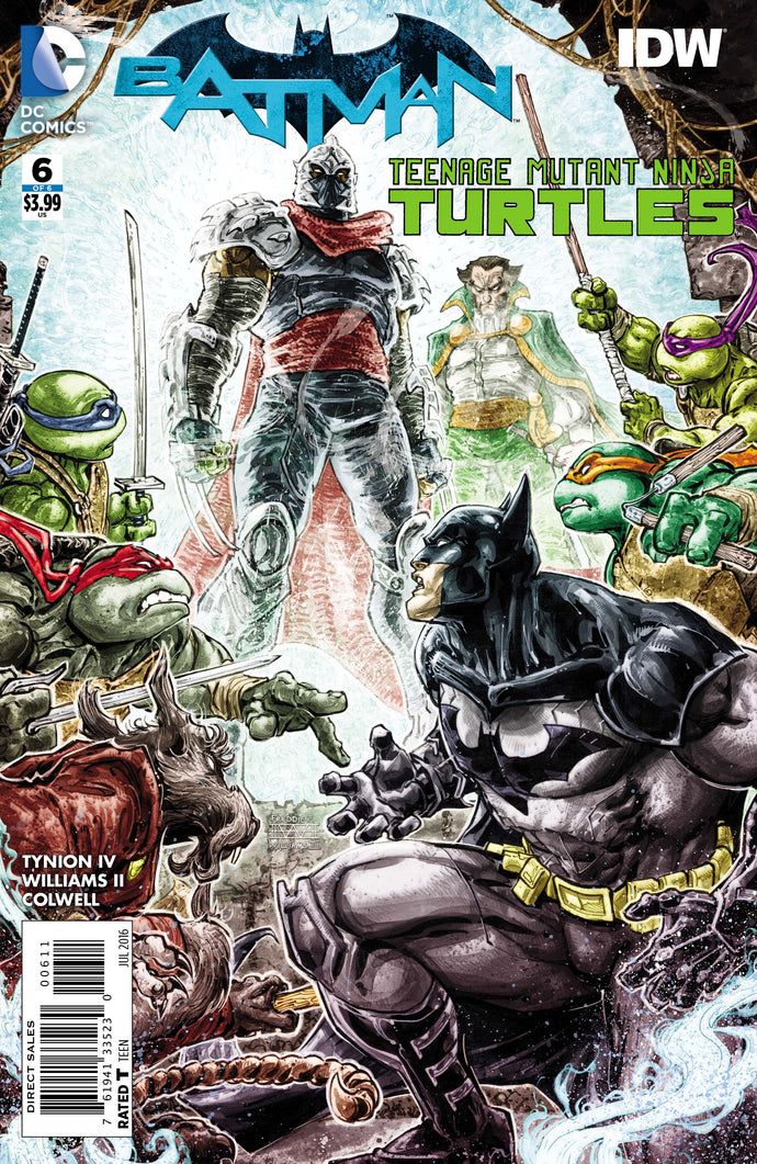 BATMAN TEENAGE MUTANT NINJA TURTLES #6 (OF 6)