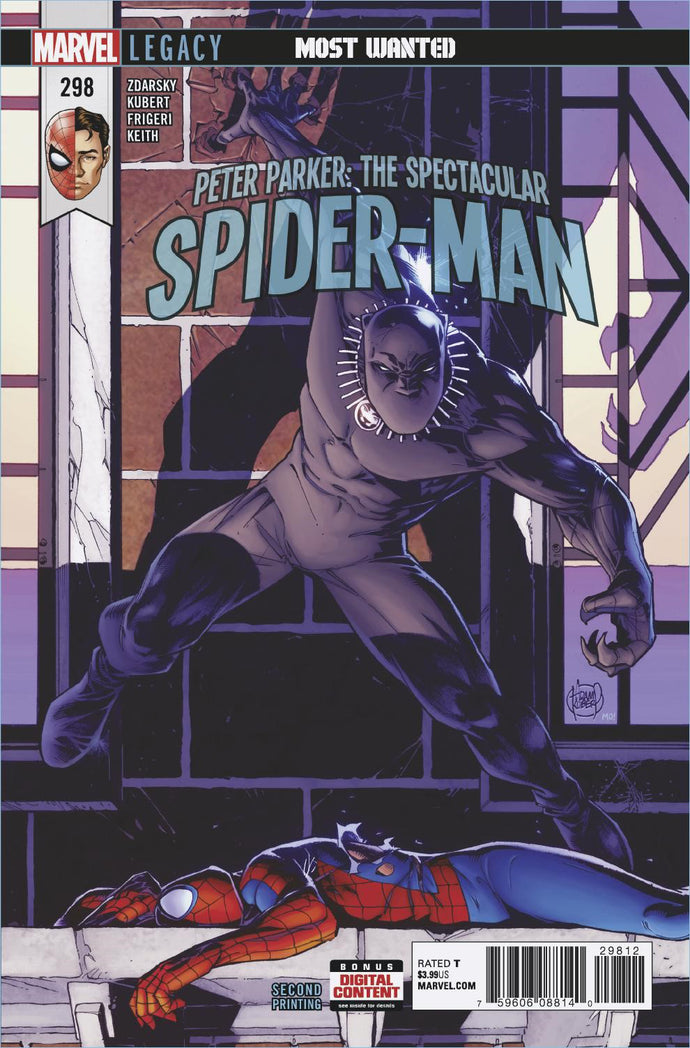 PETER PARKER SPECTACULAR SPIDER-MAN #298 2ND PTG KUBERT VAR