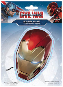 Captain America Civil War Decal - Iron Mans Helmet