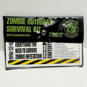 ZOMBIE EMERGENCY RESPONSE OPERATIONS (ZERO) ZOMBIE OUTBREAK SURVIVAL KIT
