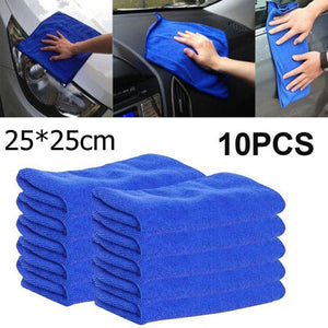 Microfiber Car Cleaning & Detailing Cloths - 10 pieces