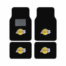 Load image into Gallery viewer, NBA 4-Piece Embroidered Logo Car Floor Mat Set