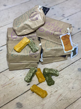 Load image into Gallery viewer, Pea, Mint & Spirulina Vegan Dog Treats