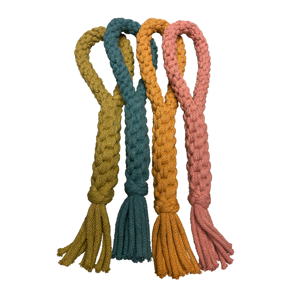 Recycled Cotton Eco Dog Loop Toy