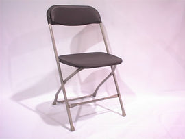 Rental - Festival Grey Plastic Folding Chair, each