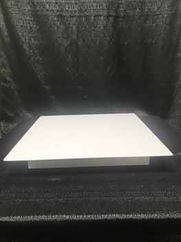 "Rental - 18"" Square White Cake Stand, each"