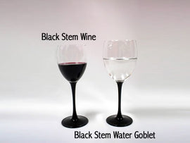 Rental - Black Stem Wine Glass, dozen