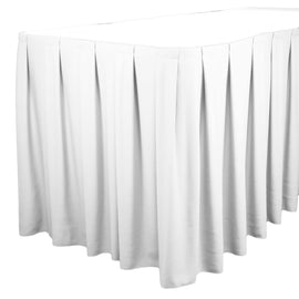 Rental - White 11' Tableskirt, each