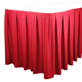 Rental - Red 14' Tableskirt, each