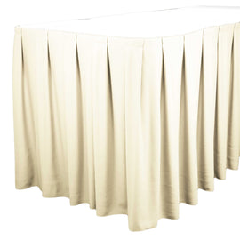 Rental - Ivory 14' Tableskirt, each