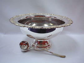 Rental - 10 litre Silver Punch Bowl, each