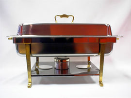 Rental - 12 litre Deluxe Chafing Dish with Gold Trim, each